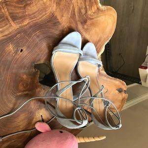 Banana Republic Shoes - Banana Republic suede tie heels